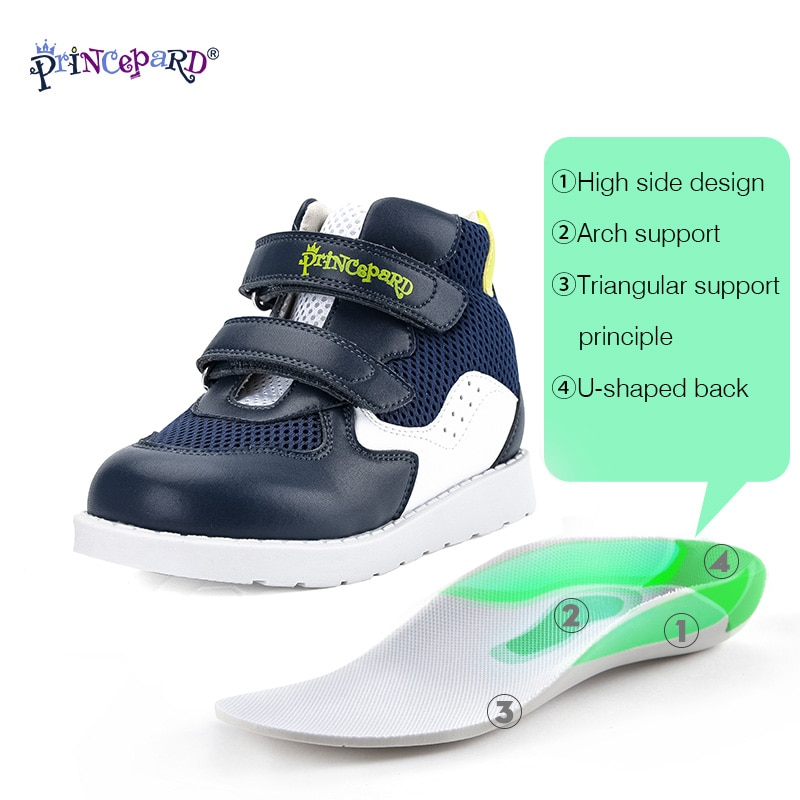 PRINCE PARD Kids Orthopedic Sneakers For Boys Girls Club foot Shoes First Walking Corrective Arch Support Children Shoes walking shoes reebok club c 85 bs6786 sneakers for female tmallfs