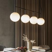 Décoration Suspension pour salle à manger moderne boule de verre pendentif luminaire maison intérieur Suspension lumineuse