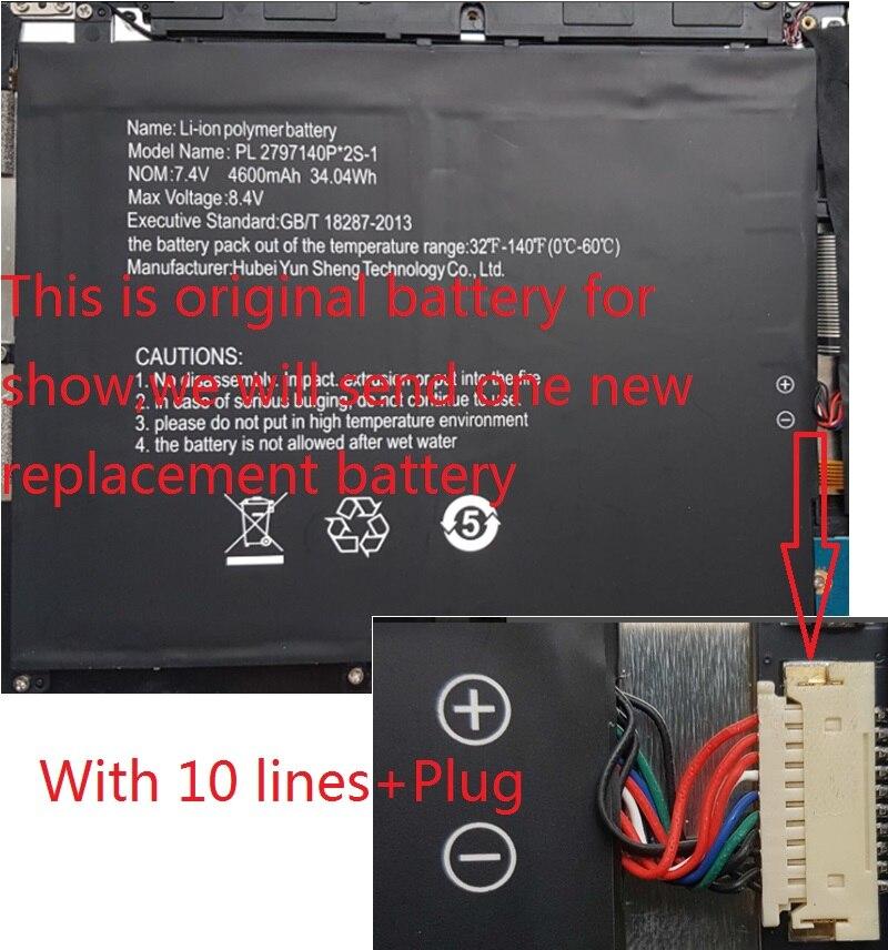 Nueva batería para Digma CITI E302 ES3009EW Tablet PC nuevo li-po acumulador recargable reemplazo PL2797140P * 2S-1 7,4 V 5500mAh