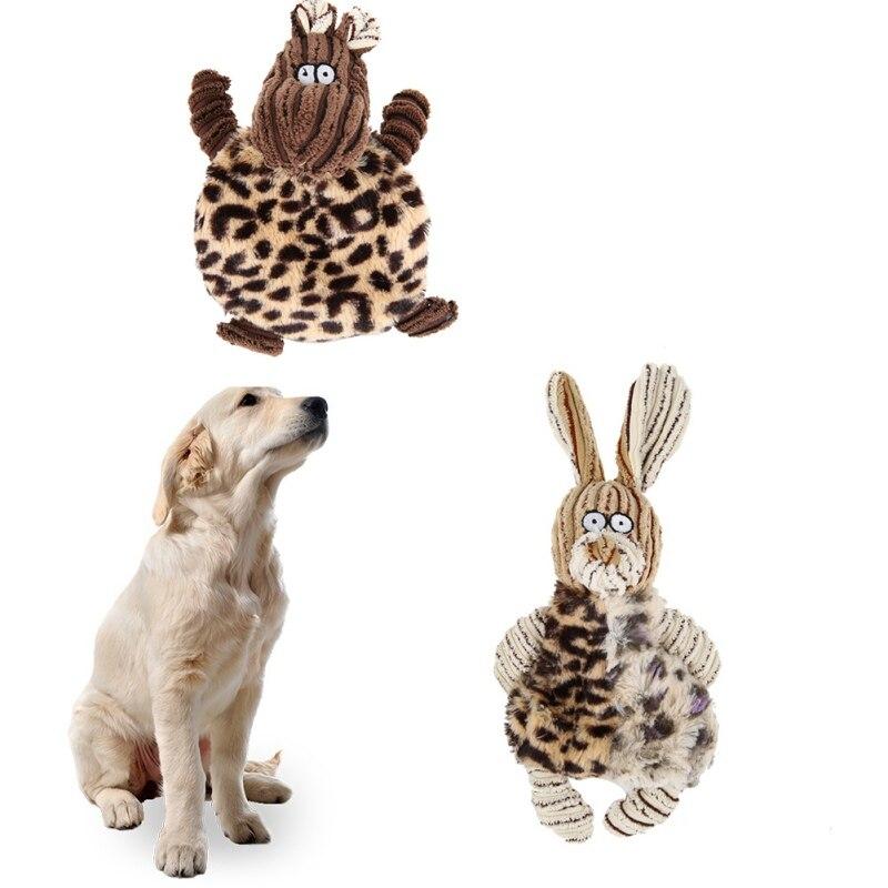 Плюшевая игрушка для домашних животных, кролик, игрушка для домашних животных, интересная плюшевая жевательная игрушка, щенок, собака, жева...