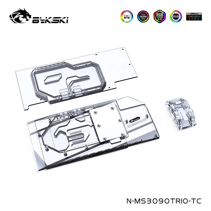 Bykski قالب ماء خلفي نحاسي لألعاب MSI Geforce RTX 3090/3080/سوبريم X تريو 24G/10G OC بطاقة جرافيكس ، N-MS3090TRIO-TC