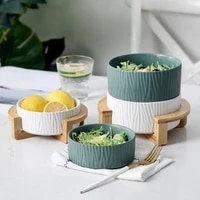 producer can exploit seramic fruit muscle porcelain meal salad cake wood and sofa kitchen container storage