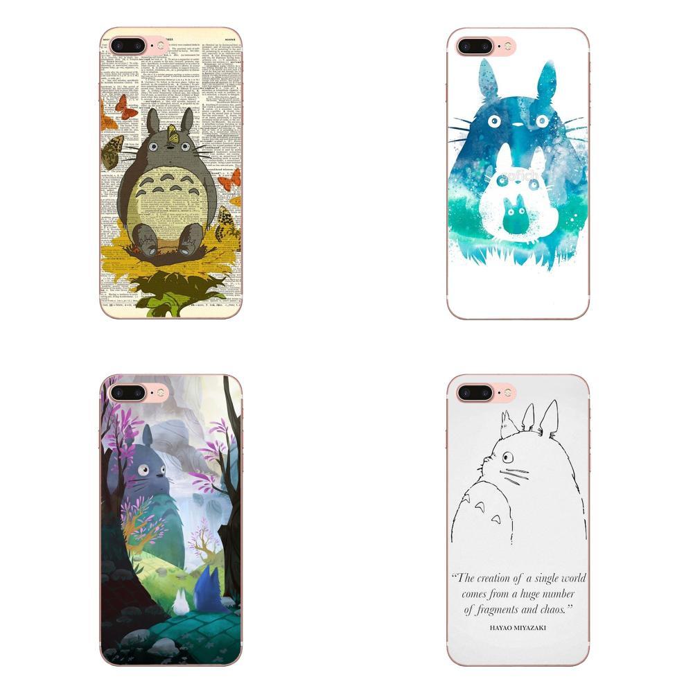 Para Samsung Galaxy A10 A20 A20E A3 A40 A5 A50 A7 J1 J3 J4 J5 J6 J7 2016 de 2017, 2018 TPU de mi vecino Totoro (1988) obra de arte