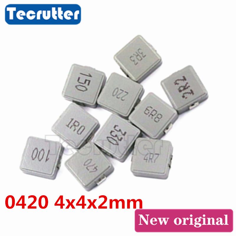 10 Uds 0420 inductancia 4X4X2 1UH 1.5UH 2.2UH 3.3UH 4.7UH 5.6UH 6.8UH 8.2UH 10UH TPC serie inductancia de potencia SMD