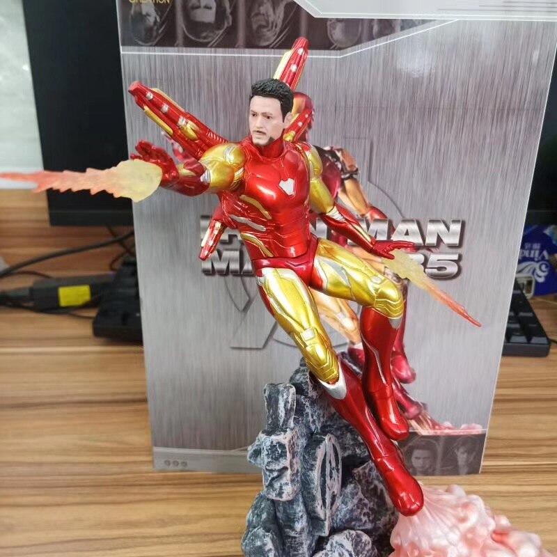 Caliente 25cm Marvel Hombre de Hierro MK85 figura de acción Ironman Nano Mark 85 Tony Stark vengador final infinito modelo de guerra muñeca juguetes regalos