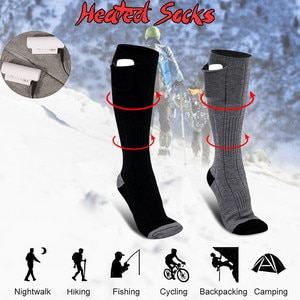 3.7v-3adjustable Warmer Socks Electric Heated Socks Rechargeable Battery For Women Men Winter Outdoor Skiing Cycling Sport Heat