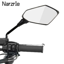 2ชิ้น/คู่กระจกมองหลังรถจักรยานยนต์สกู๊ตเตอร์ Motocross กระจกมองหลัง Electrombile ด้านหลังกระจกนูน8/10มม.คาร...