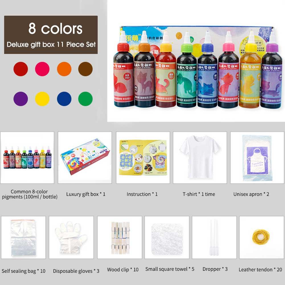 Pinturas textiles en espiral Jacquard pigmento permanente DIY ropa no tóxica artesanía accesorios de tela Tie Dye Kit DE ARTE Decoración