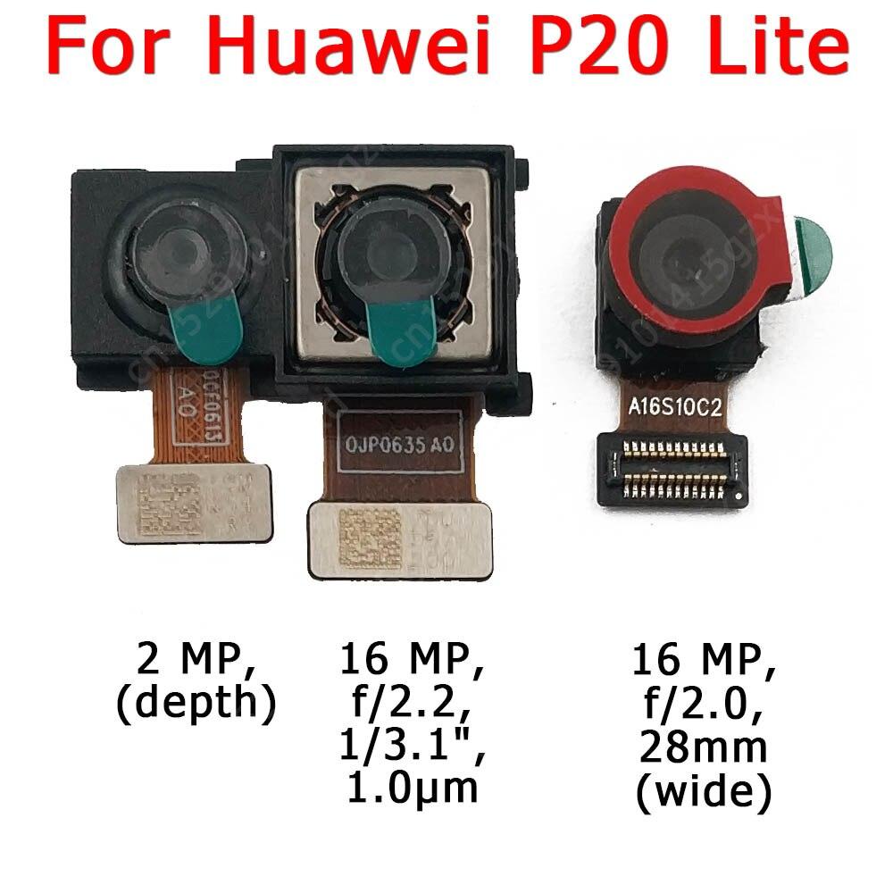 Original frente e traseira câmera traseira para huawei p20 lite p20lite principal frente módulo da câmera flex peças de reposição