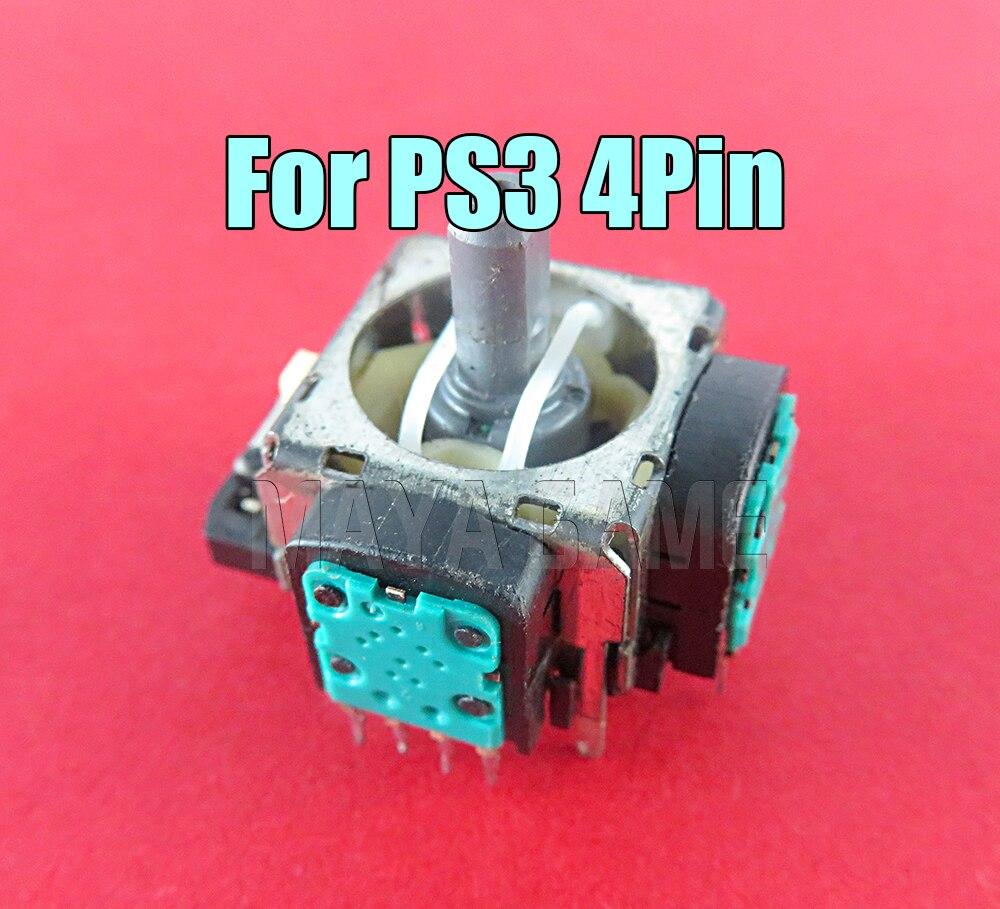 6 шт./лот, 4 Pin оригинальный б/у ALPS 3D аналоговый модуль джойстика, ремонтная часть для Playstation 3 PS3 контроллера