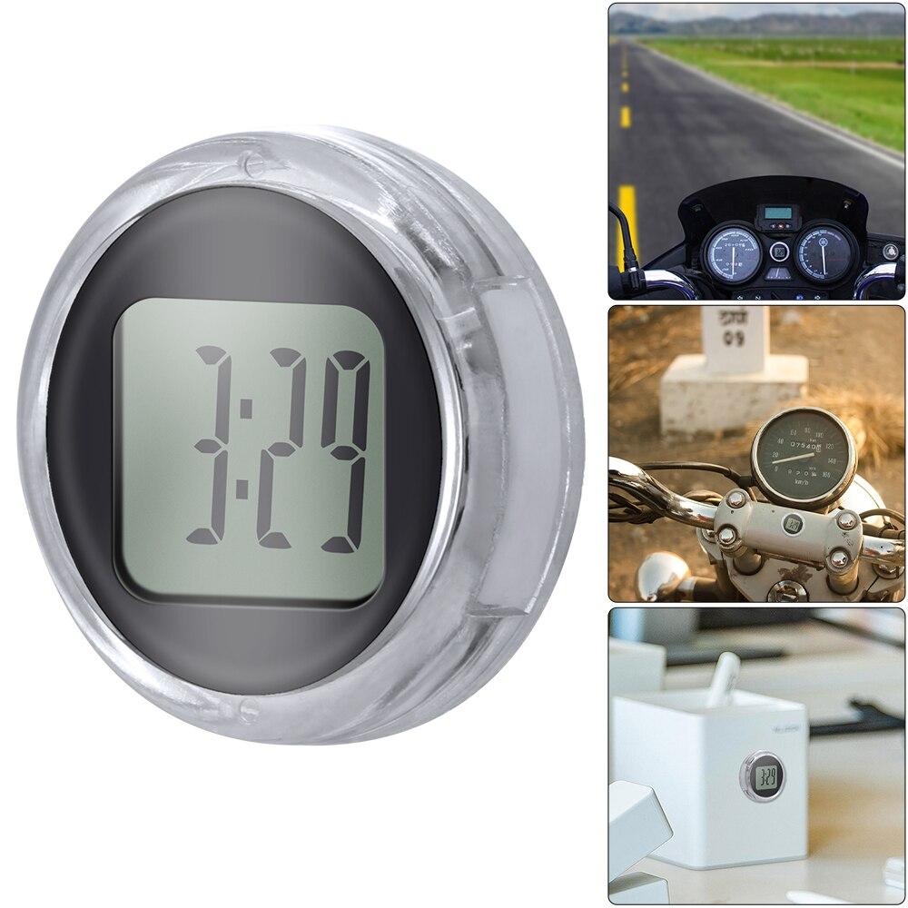 Новые мини мотоциклетные часы, водонепроницаемые часы, кронштейн для мотоцикла, цифровые часы с секундомером