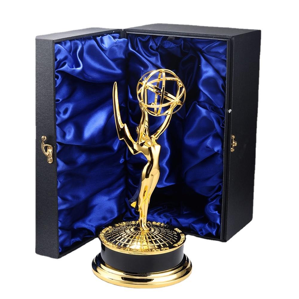 High Quality Emmy Award Trophy Souvenir Replica 39CM 1:1 Model Famous Television Art Award Trophies Souvenirs Metal Award Cups
