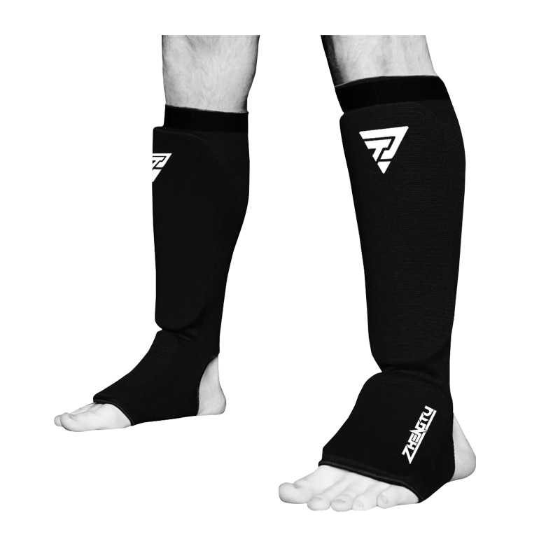 Cotton Boxing Shin Guards MMA Instep Ankle Protector Foot Protection TKD Kickboxing Pad Muaythai Tra