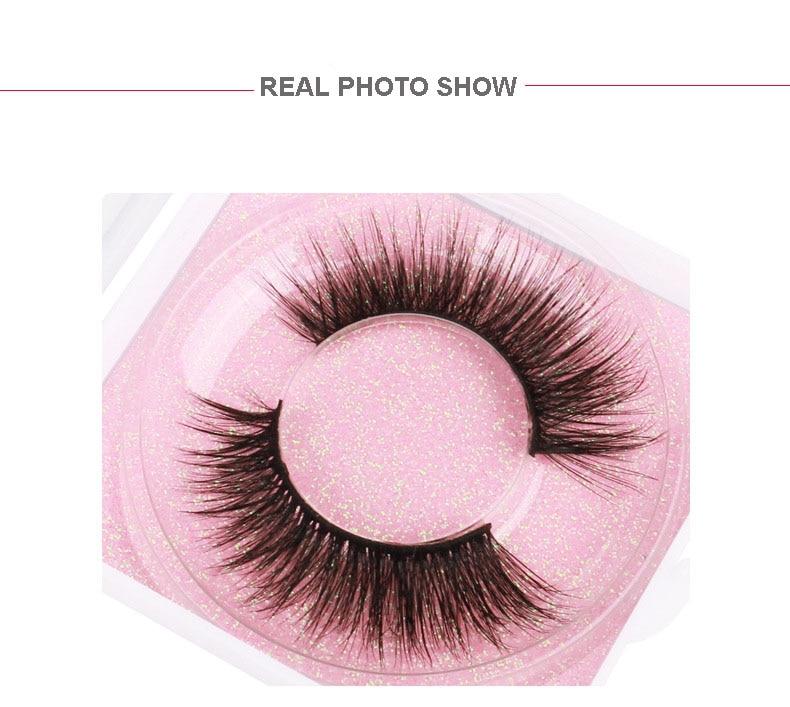 Premium thick false eyelashes natural long mink 3D hair fake lashes extensions eye makeup 300pairs/lot DHL Free