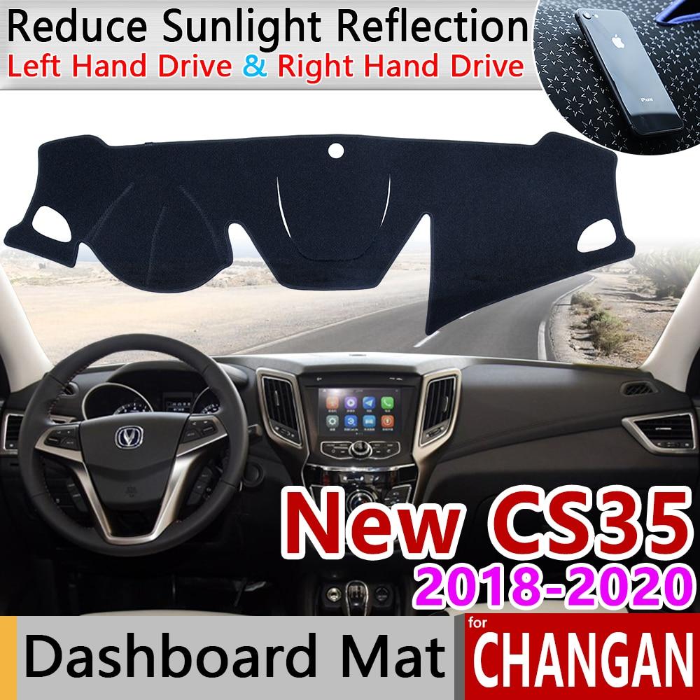 Para Changan nuevo CS35 2018 2019 2020 alfombrilla antideslizante almohadilla de la cubierta del tablero sombrilla estera protectora alfombra Anti-UV accesorios de coche CS
