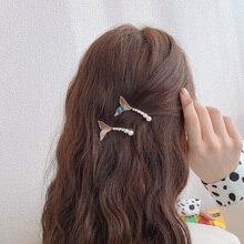 Mermaid Tail Barrettes Side Clip Internet Celebrity Temperamental Bangs Clip Korean Hair Accessories