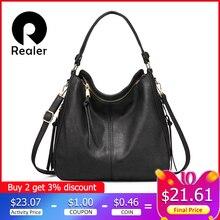 Mais real bolsas femininas ombro crossbody saco feminino casual grandes totes de alta qualidade couro artificial senhoras hobo saco do mensageiro