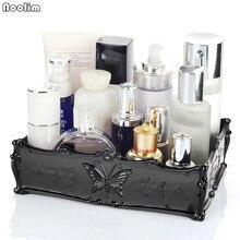 NOOLIM rétro acrylique papillon sculpté bureau cosmétique organisateur de stockage clair bijoux rouge à lèvres brosse conteneur boîte de maquillage