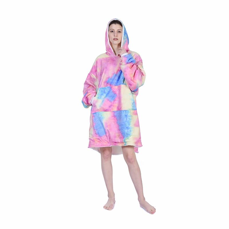 Одежда для сна, женская одежда для отдыха, ночное белье, новый продукт для осени и зимы, домашний теплый свитер с длинным рукавом и капюшоном из овечьей шерсти