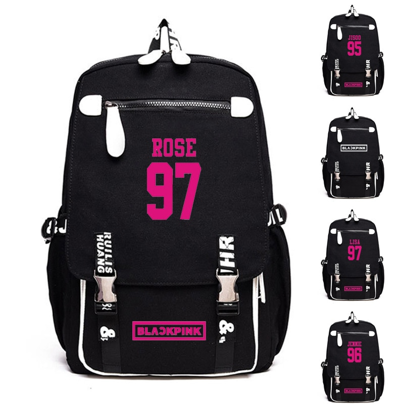 Mochila para Fans del equipo BLACKPINK, bolsa de libro de mensajero, bolsas de viaje escolares, regalo de Anime