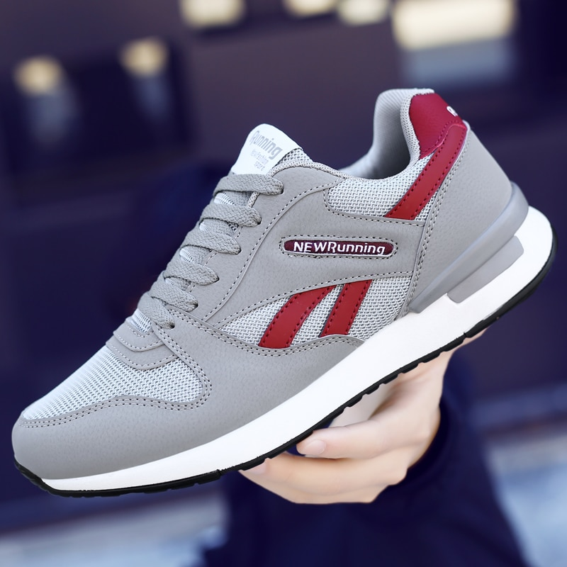 Fashion men casual shoes Lightweight  sneakers Breathable couple jogging Wear-resistant running Flat