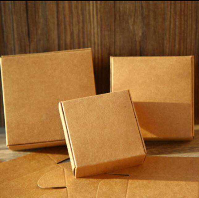 50 Uds marrón Natural Embalaje de papel caja de Cajas de cartón...