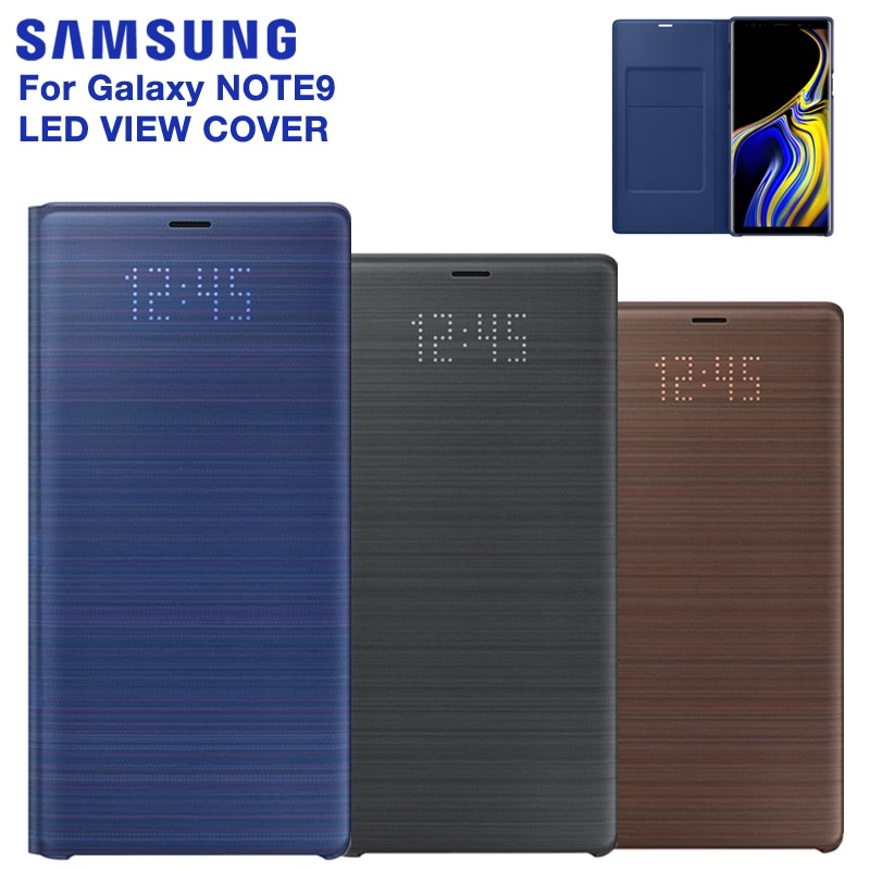 Original Samsung Galaxy Nota 9 Note9 de la cubierta inteligente LED dormir caso Samsung LED View cubierta inteligente Smart teléfono caso