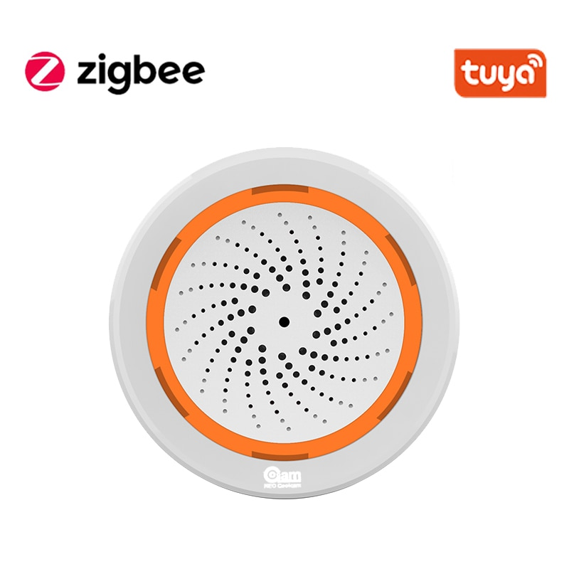 Tuya Zigbee Smart Siren Alarm With temperature and Humidity Sensor Works With TUYA Smart Hub