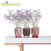 nordic outdoor simple personality face shaped flower pot creative gardening characters ceramic vase desktop potted ornaments