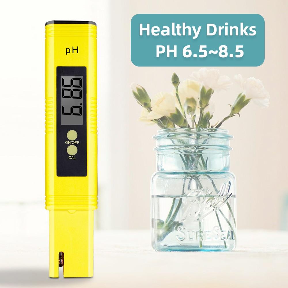 10 قطعة المحمولة LCD الرقمية PH متر القلم من اختبار دقة 0.01 حوض بركة المياه النبيذ البول التلقائي معايرة 30% قبالة