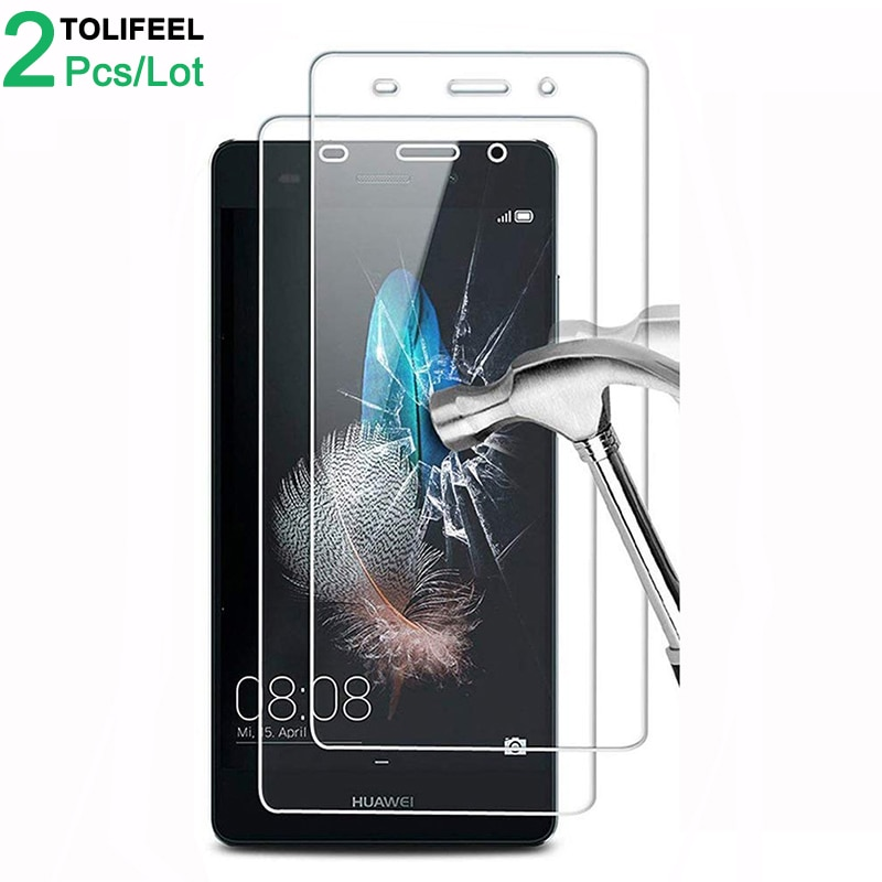 2Pcs Tempered Glass For Huawei P8 Lite Screen Protector 9H 2.5D Phone On Film Protective Glass For H