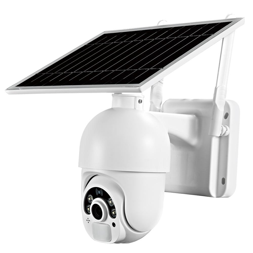 T22 الشمسية واي فاي كاميرا 1080P IP65 اتجاهين الصوت الأمن PIR في الهواء الطلق 2.4Ghz كاميرا متحركة لاسلكية للمنزل مكتب فناء