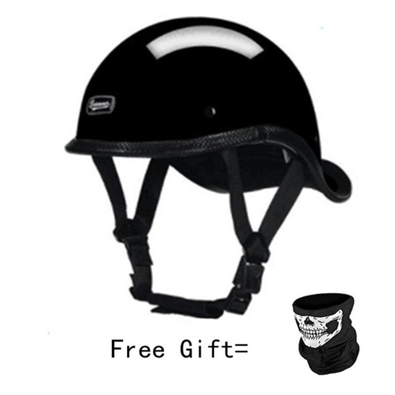 Motorcycle Helmet Open Face Retro Half Motorbike Racing Off Road Portable Casco Moto Capac