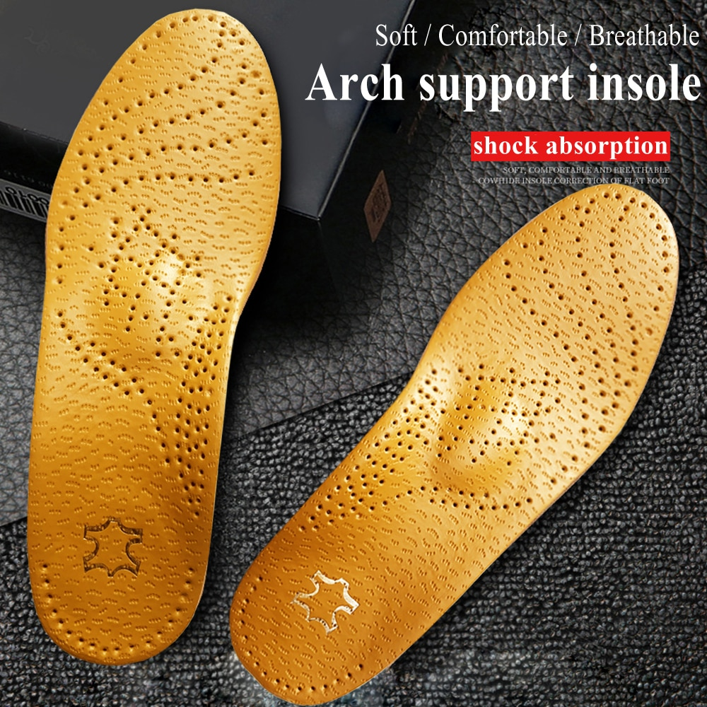 KOTLIKOFF Orthopedic Foot Care Insole Leather Latex Antibacterial Active Carbon Orthotic Arch Suppor