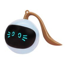 Pet Smart Interactive Cat Toy Colorful LED Self Rotating Ball Toys USB Rechargeable Kitten Electroni
