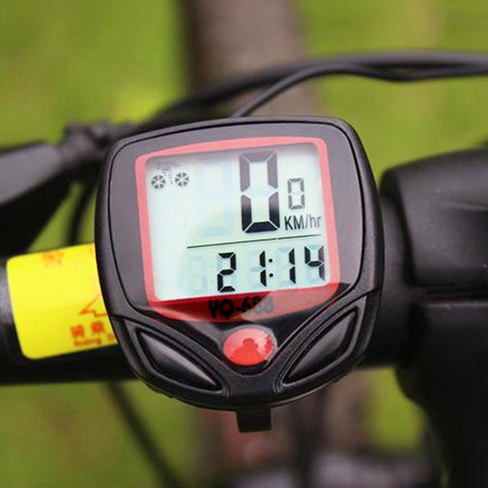 Yq688 sem fio à prova dwireless água bicicleta computador odômetro lcd display digital cronômetro bicicleta medidor de velocidade ciclismo velocímetro accessori