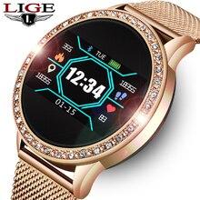LIGE Ladies Smart Watch Women Blood Pressure Heart Rate Monitor Fitness tracker Sport Smart Band Ala
