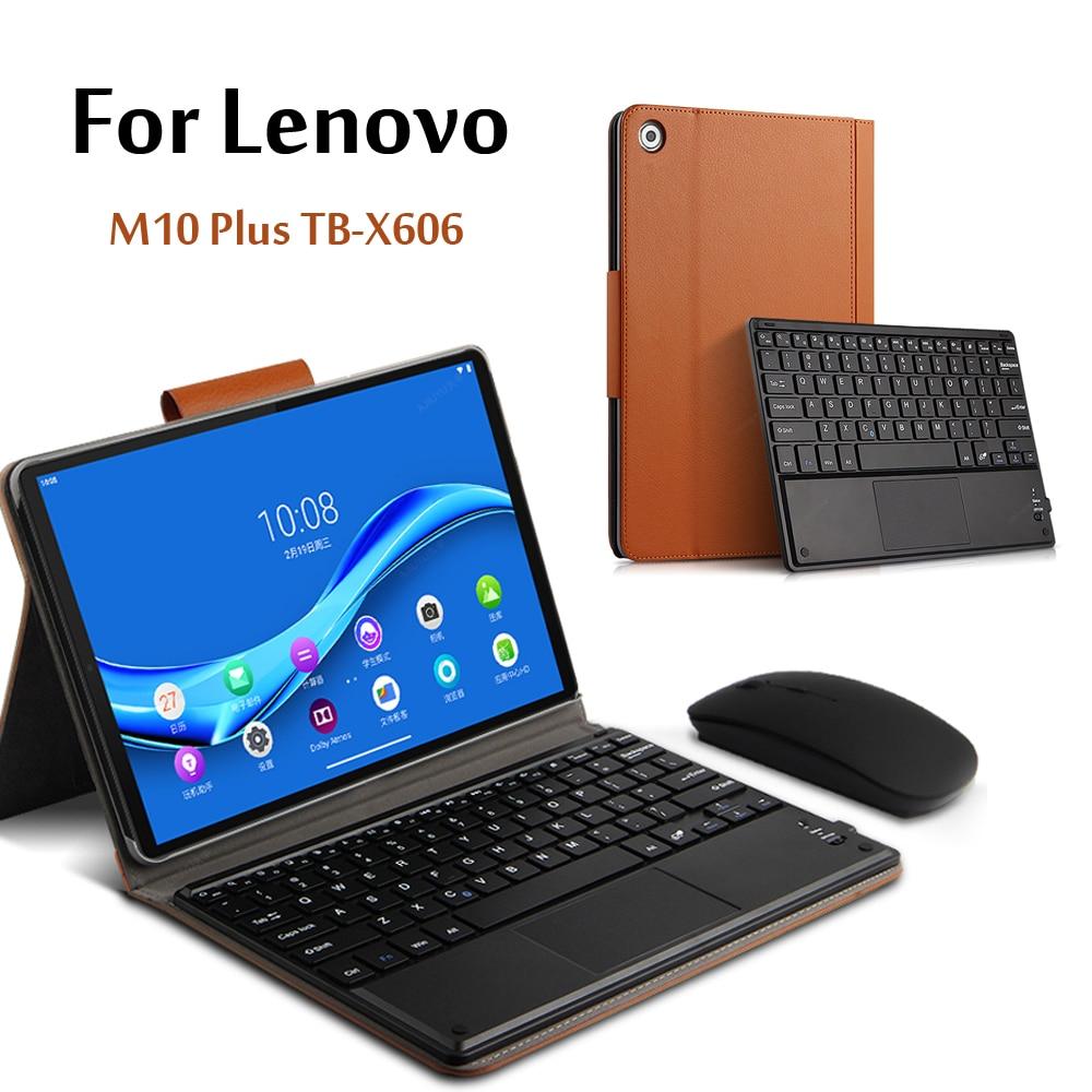 Case For Lenovo Tab M10 FHD Plus Wireless Bluetooth Keyboard TB-X606F TB-X606X 10.3''Tablet Magnetically Detachable Cover
