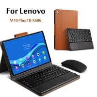 case for lenovo tab m10 fhd plus wireless keyboard cases tb x606f tb x606x 10 3 tablet magnetically detachable cover