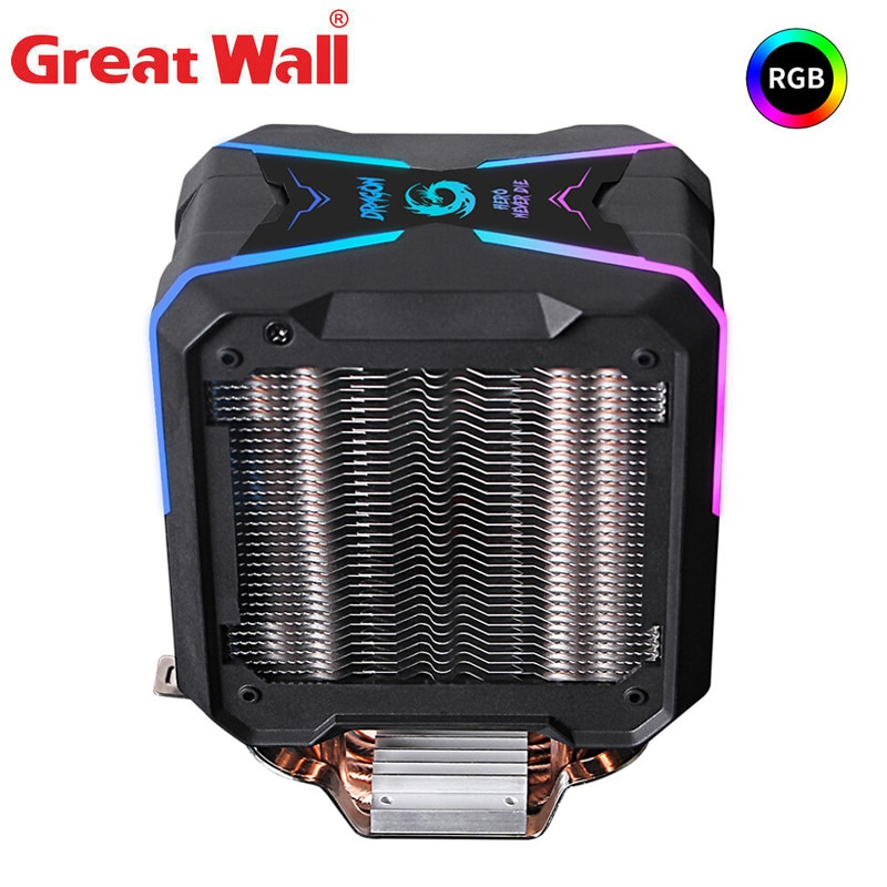 4pin pwm fan connector turbo fan utral thin 29mm cooling fan for 1u server cpu cooler computer components Great Wall CPU Cooler RGB PWM Fan 4Pin 90mm Quiet Computer Cooling For LGA 1150 1151 1155 1156 AM4 775 Processor Cooler For CPU