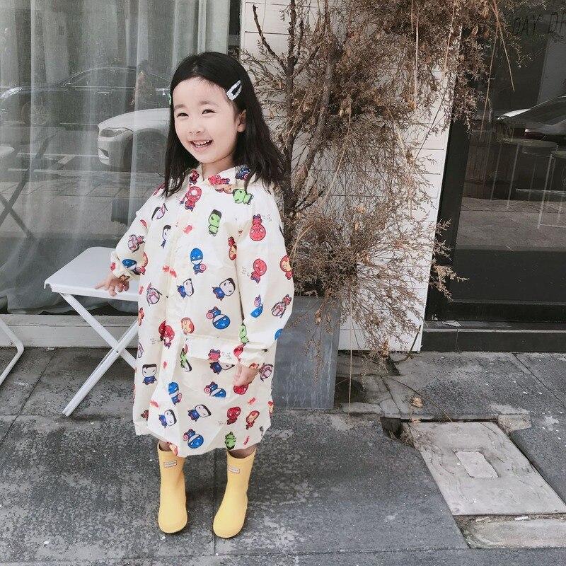 Chubasquero de dibujos animados para niños, chubasquero para niñas, Poncho de lluvia para estudiantes, impermeable para jardín de infantes