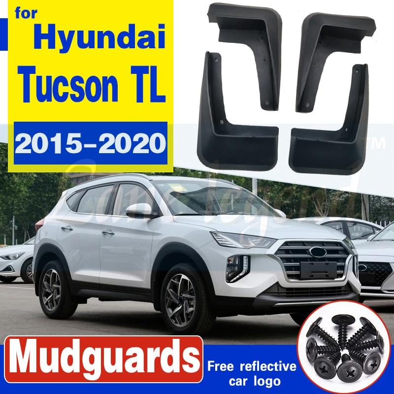 Set Molded Mud Flaps For Hyundai Tucson TL 2015 - 2020 Mudflap Splash Guards Mudguard Fender Front Rear 2016 2017 2018