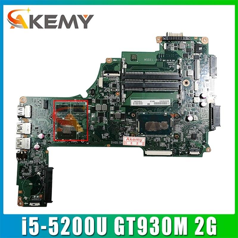 A000388620 DA0BLQMB6E0 لتوشيبا C50-C L50-C L50T-C L55-C S55-C C55-C اللوحة المحمول مع i5-5200U GT930M 2G-GPU 100% اختبار