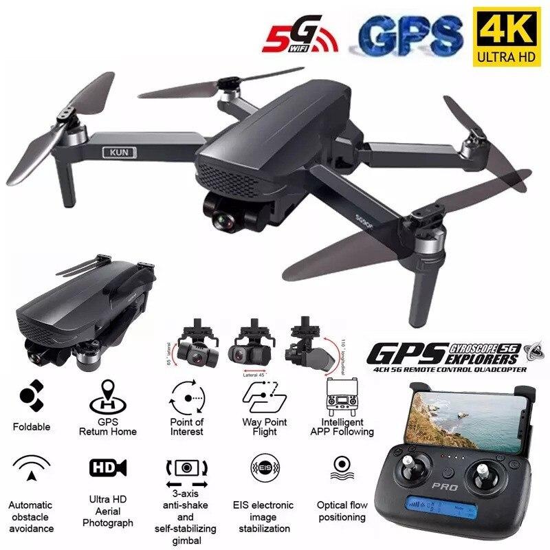ZLL SG908 RC GPS Drone de 3 ejes cardán 4K Cámara 5G...