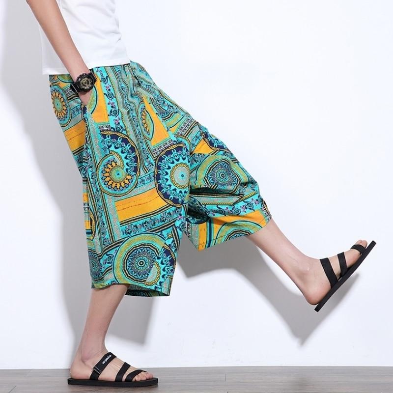 Men Shorts Summer Casual Bermuda Beach Shorts Men Holiday Thailand Bali Hip Hop Short Pants Linen Cotton Shorts Fitness Clothing