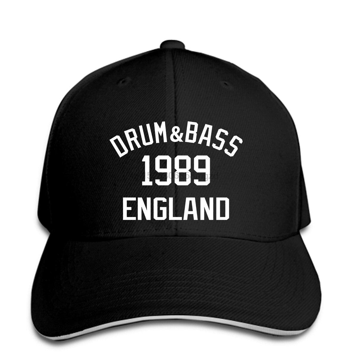 Estilo Vintage s divertido Bass Music de tambor corto 1989Goldie tambor N Bass DB hombres gorra de béisbol Snapback Cap mujeres Cap Peaked