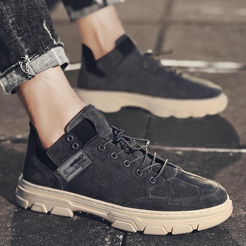 2021 جديد مارتن الأحذية الرجال الدانتيل يصل أحذية من الجلد حذاء رجالي كاجوال الرجال المد أحذية مريحة
