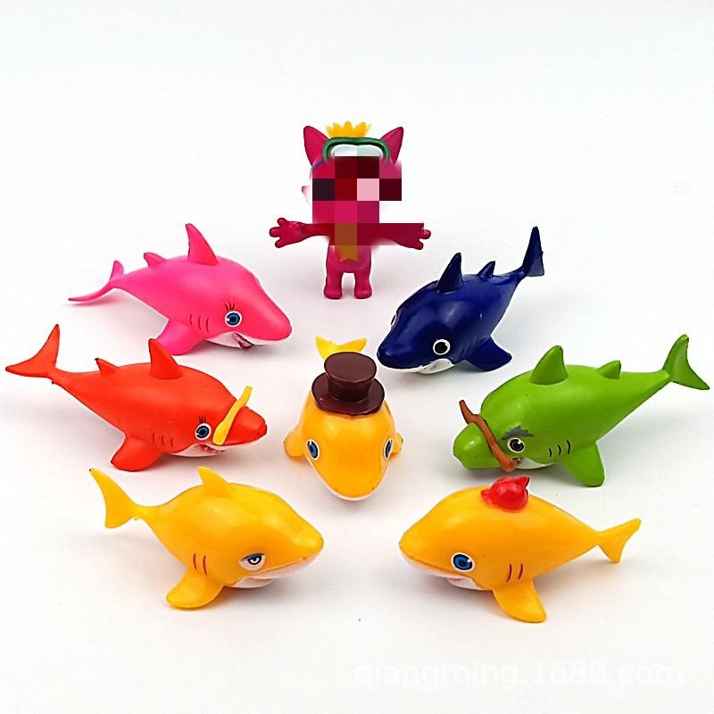 AliExpress - 8pcs Baby shark Aquatic creatures Lone raccoon model Action Toy Figures  action figure anime figure Best Kids Birthday Gifts
