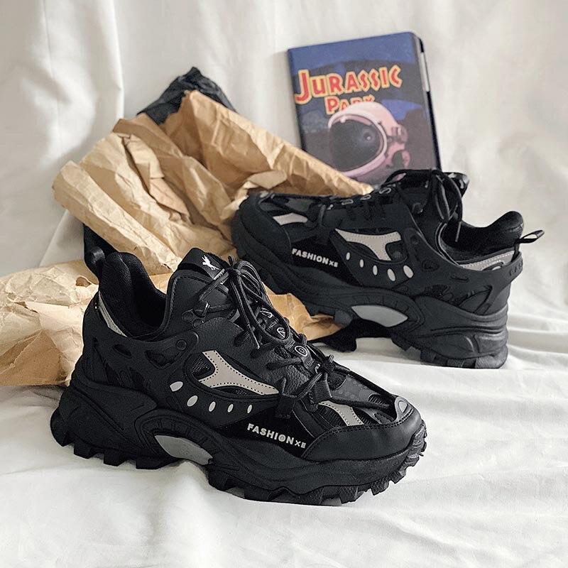 رجّالي أحذية رياضية تنفس التخميد أحذية رياضية زوجين حذاء كاجوال سميك وحيد تشغيل أحذية مشي المدربين أحذية رياضية