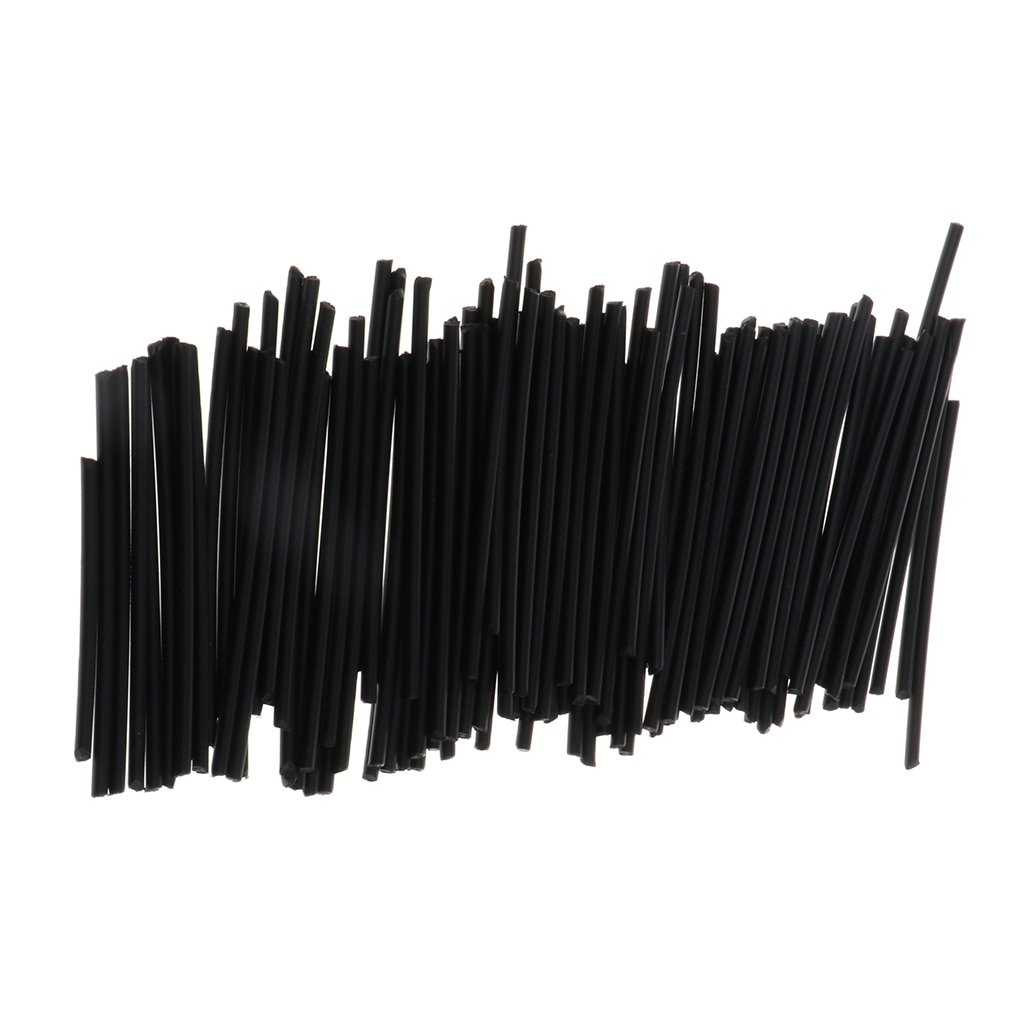 Lote de 100 varillas de marcadores de puntos laterales para guitarra, marcador de posición para diapasón, puntos incrustados negros de 0.079 pulgadas